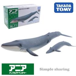 Takara Tomy ANIA Animal Advanture AL-11 синий кит из смолы детские развивающие мини-фигурки игрушка безделушка