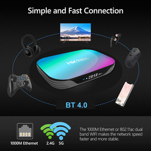 Image 4 - 50 Stks/partij Smart Tv Box Hk1box Android 9.0 Amlogic S905X3 8K Dual Wifi Bt Snelle Set Top Box Hk1 x3 Pk HK1MAX H96 A95x