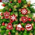 HOMFUN 10 шт. сделай сам, бриллиантовый рисунок Рождество дерево кулон сверла Специальные Форма Рождественская Алмазная вышивка украшения для ...