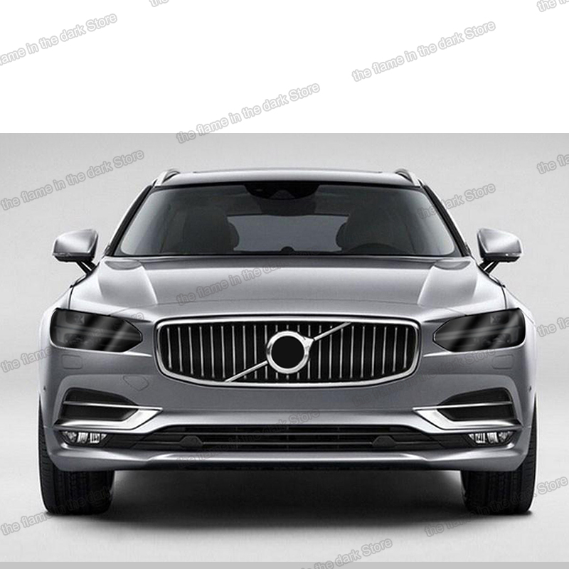 lsrtw2017 black transparent TPU car headlight protective film anti-scratch sticker For <font><b>volvo</b></font> xc60 s60 v90 s90 <font><b>xc90</b></font> S60 xc40 v60 image