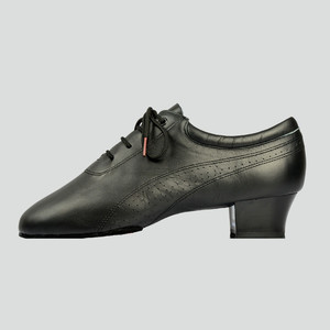 Image 2 - Hot Sale Men Latin Dance Shoes 424 Split Outsole Soft Leather Professional Dancesport  Shoe Elastic Heel Ballroom Dancing Shoe