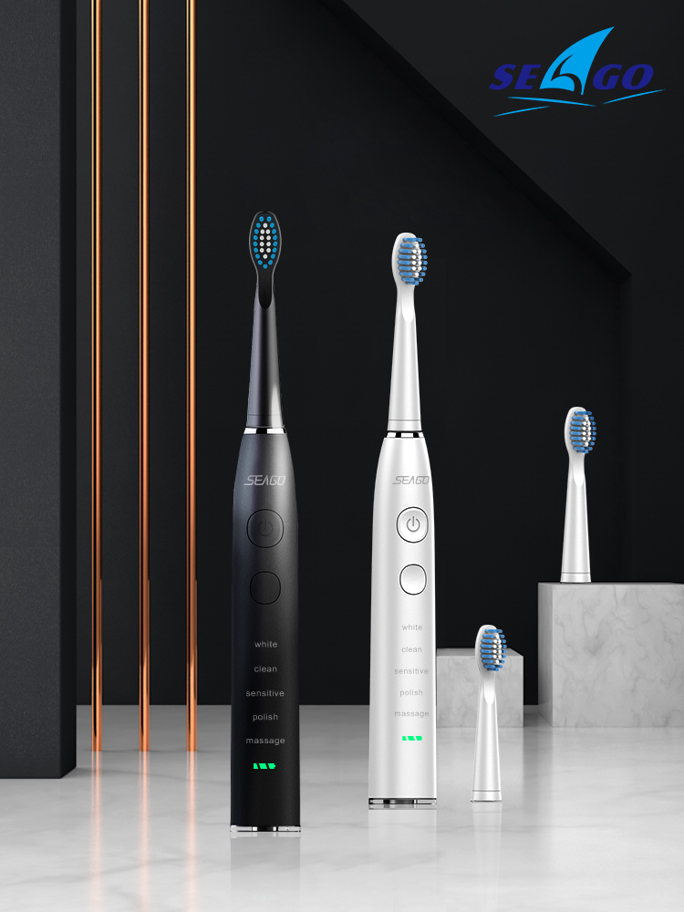 SEAGO Electric Toothbrush Rechargeable Waterproof Time Adult USB With5 360-Days Upgraded
