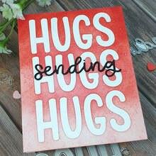 цена Sending Hugs Die Set Metal Cutting Dies For Scrapbooking Craft Die Cut Photo Album Card Making Embossing Stencil  2020 New онлайн в 2017 году