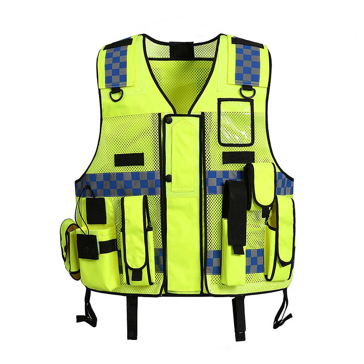 NEW Yellow Tactic Security Patrol Vest Hi Viz Industry Door Staff Workwear Safety Clothing High Visibility Night Reflective Safe