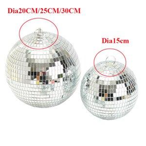 Image 2 - Thrisdar รีโมทคอนโทรล LED RGB Beam Pinspot แสงสะท้อนแสงกระจก Ball กับมอเตอร์ Party Wedding Disco Ball Light