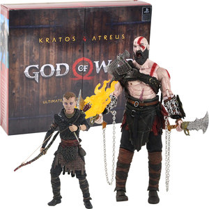 Ultimate God of War Action Figure Kratos Atreus Ghost of Sparta with Axe Sword Shield Bow and Arrow Model Toys