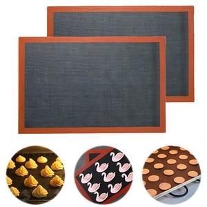 Antiaderente cozimento esteira resistente ao calor forno folha forro para biscoito pão biscoitos sopro diy cozimento pastelaria silicone esteira da cozinha ferramentas