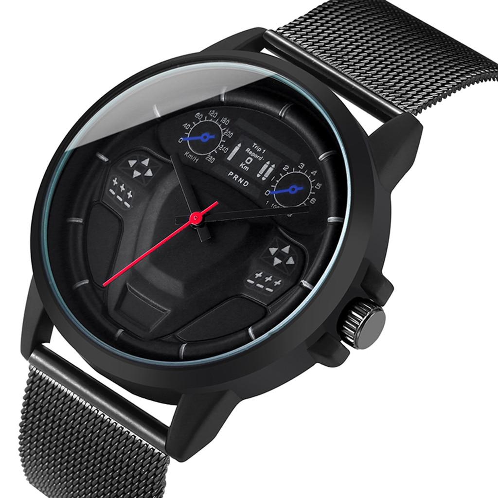 Мужские деловые часы с большим циферблатом модные часы стальной ремешок часы из нержавеющей стали механические кварцевые модные спортивные часы 04|Кварцевые часы|   | АлиЭкспресс