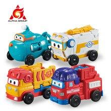 Super asas 4 mini equipe veículos figuras de ação robô transformando bots transformação brinquedos rover sparky remi willy para o presente do miúdo