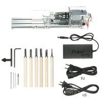 100W CNC Mini Torno de Máquinas ferramenta Para Trabalhar Madeira DIY Talão de Moagem de Polimento de Moagem|Torno| |  -