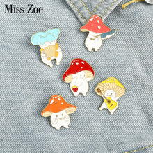 Cute Badge Accordion Brooches Guitar Mushroom Plant Jewelry Lapel-Pin Gift Custom Funny
