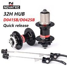Novatec Hub D041SB D042SB VTT frein à disque 32 trous vtt route vélo roulement 36H moyeux 8/9/10/11/12 vitesse rouge noir