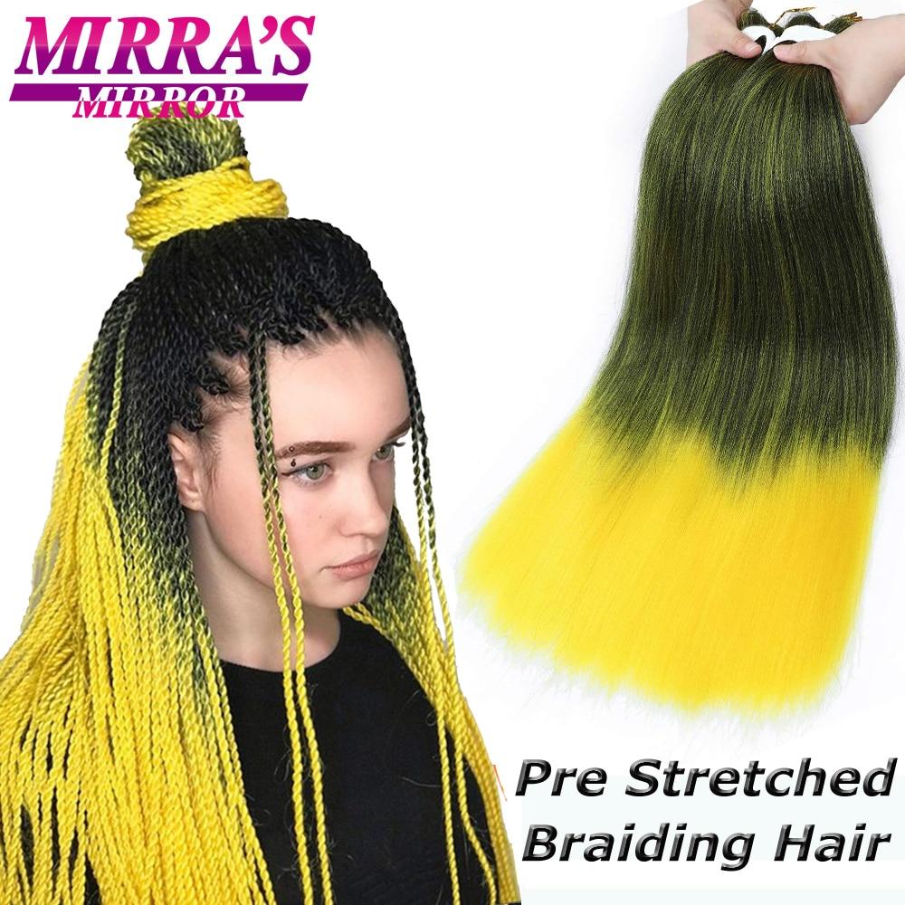 Мирра зеркало синтетические волосы, плетеные волосы, прямые, на крючках, предварительно растянуты наращивание волос Yaki легко Джамбо, коса в...
