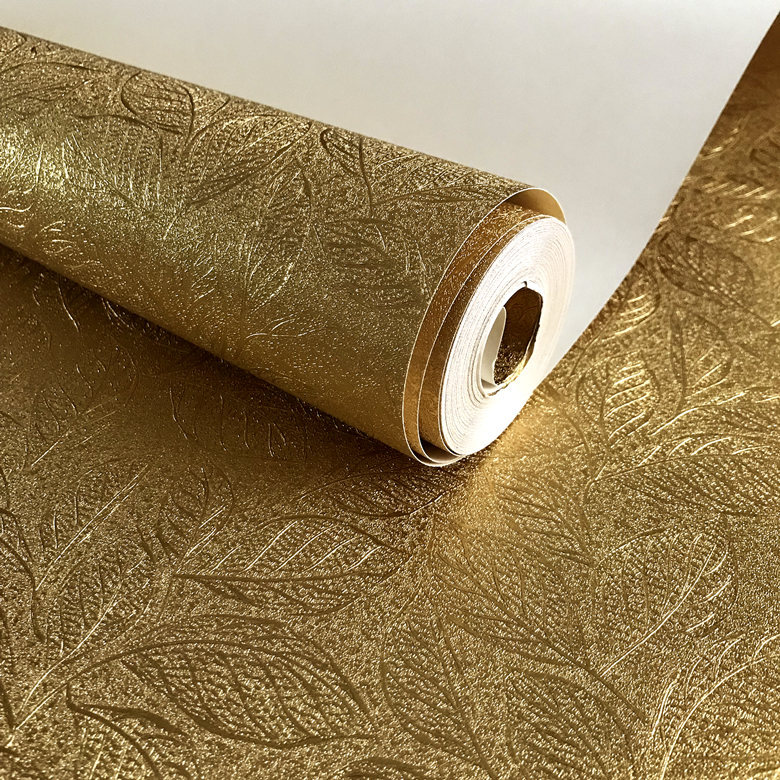 New Goldenwallpapern Gold Foil Wallpaper Living Room Background Ceiling Aureus Wallpaper Manufacturers