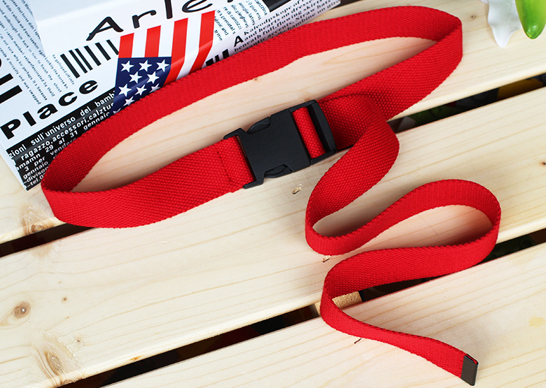 120 см яркие цвета, женский брезентовый мужской ремень с пластиковой пряжкой, Тактические длинные красные и черные ремни, унисекс, повседневные джинсы для мальчиков и девочек, ремни 148 - Цвет: Красный