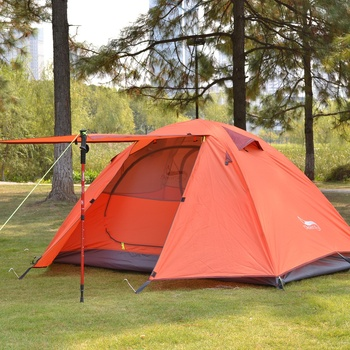 Desert&Fox Backpacking Camping Tent, Lightweight 1-3 Person Tent Double Layer Waterproof Portable Aluminum Poles Travel Tents 6