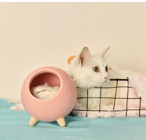 Image 5 - LED חתול אור USB מגע לילה Llight Bionic חתול Stepless עמעום אווירת לילה אור חדר קישוט מנורת חג מתנה