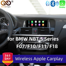 Sinairyu WIFI inalámbrico de Apple Carplay Airplay NBT serie 5 F07 F10 F11 F18 2013-2017 para BMW coche jugar Android Auto espejo IOS 13(China)