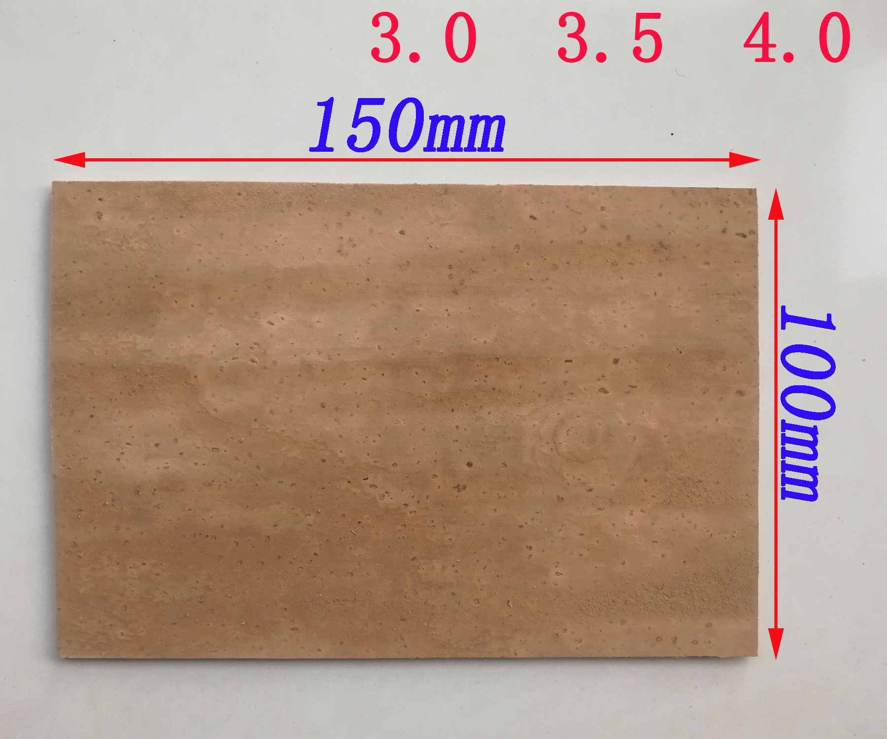 100mm*150mm Saxophone Clarinet Cork Sheet Thickness 3.0mm 3.5mm 4.0mm Cork Pads