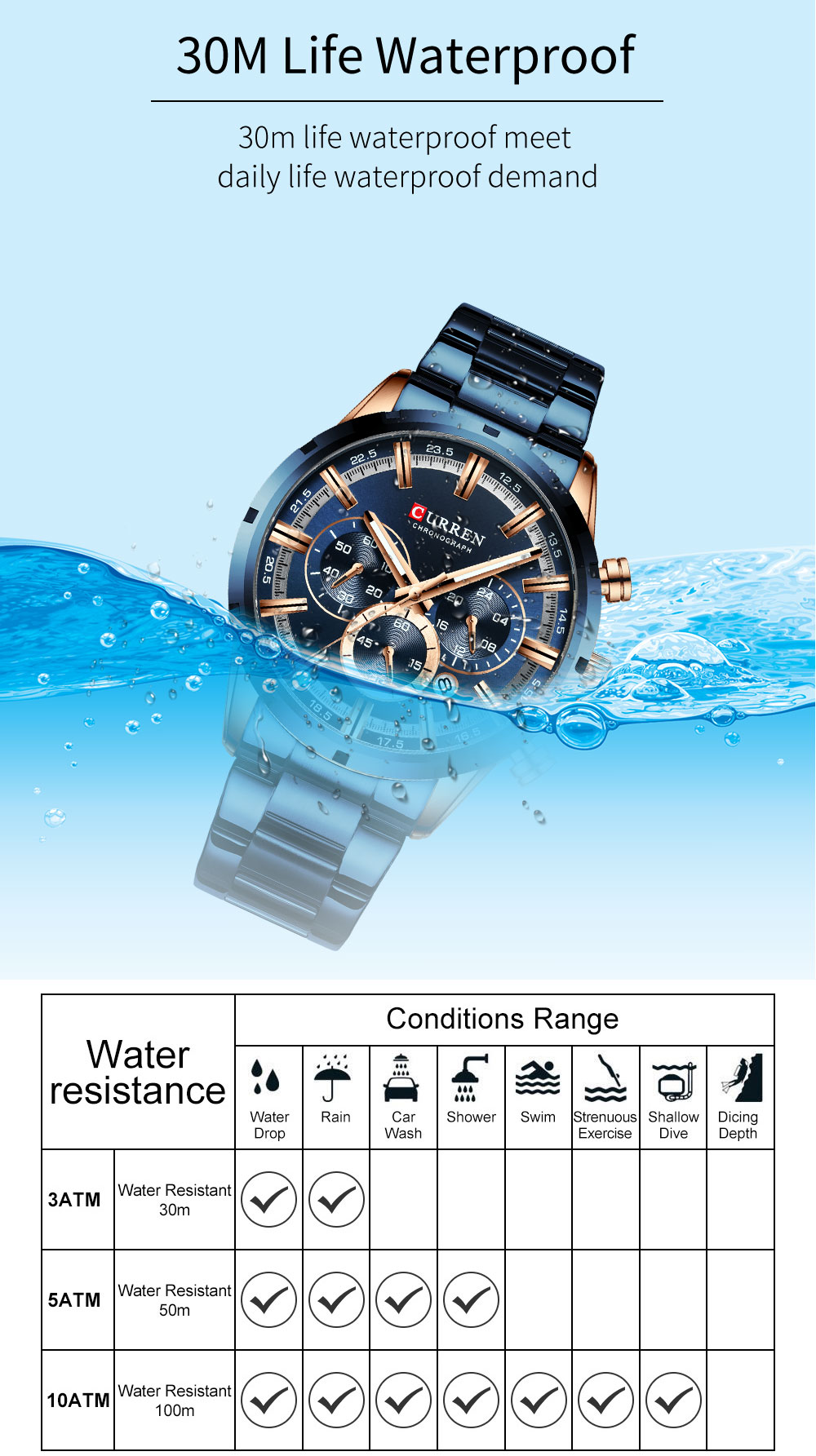Hd2fa393c62644c95a484049dad5653955 CURREN New Fashion Mens Watches Quartz Chronograph