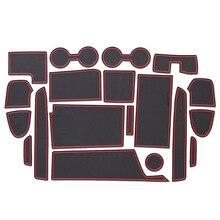 Pièces dauto garniture de couture de porte Modification intérieure de voiture accoudoir boîte de rangement tampon sous verre étanche à la poussière pour Nissan SERENA C27