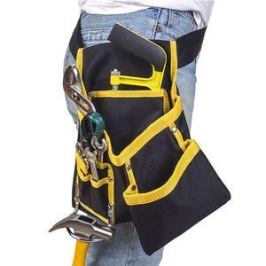 Image 3 - FGHGF hohe qualität Multi funktions Oxford Tuch Elektriker Werkzeuge Tasche Taille Beutel Gürtel Lagerung Inhaber Organizer