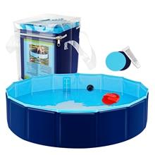 Pet Swimming Pool Foldable Pool Dog Cat Bathing Tub Bathtub Wash Tub Water Pond Dog Swimming Pools for Dogs Cats Kids