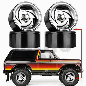 2.2inch Metal Wheel Hub Rim Beadlock For 1/10 Rc Crawler Car Trx4 Defender Bronco Rc4wd D90 D110 Axial Scx10 90046 Jimny Vs4 4pcs metal wheel rim beadlock wheel hub 1 55 inch rc car aluminum alloy black wheel rim for 1 10 rc crawler car model toy