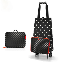 Trolley-Bag Cart with Wheels Foldable Food-Organizer Grocery