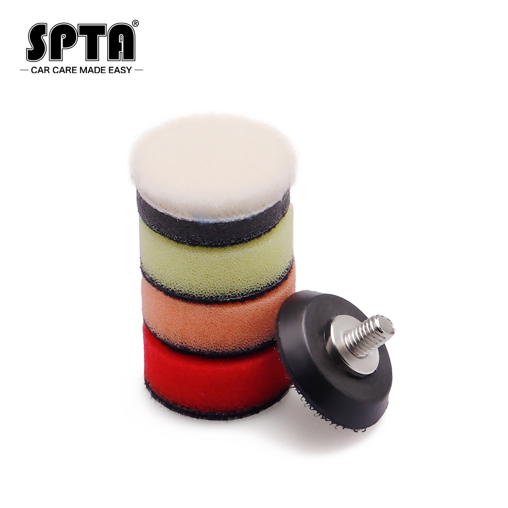 Tools : SPTA 12V Cordless Car Polishing Machine New High Quality Professional Cordless Mini RO DA Car Polisher Set