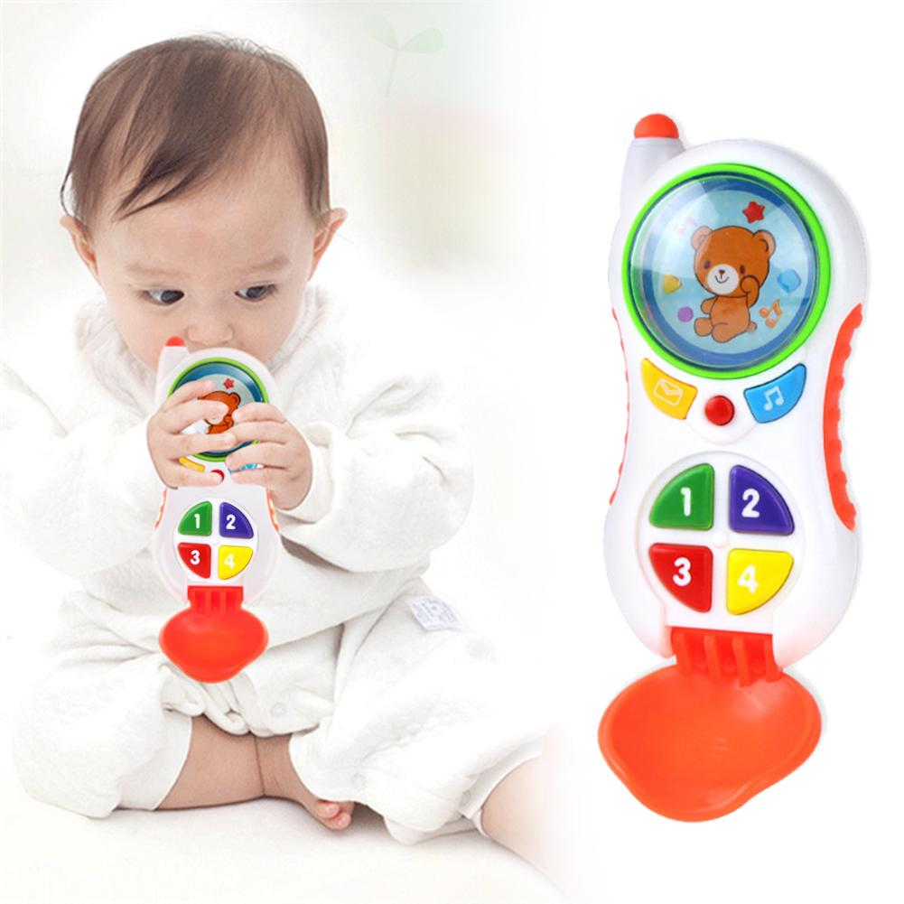 Children Educational Learning Toy Simulated Music Phone Toy Kids Simulated Telephone Interactive Toy Educational Phone Kids Gift
