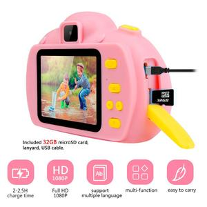 Image 3 - Children Mini Kids Camera Educational Toys for Children Baby Gifts Digital Camera 1080P HD Selfie Video Camera With 32G Card