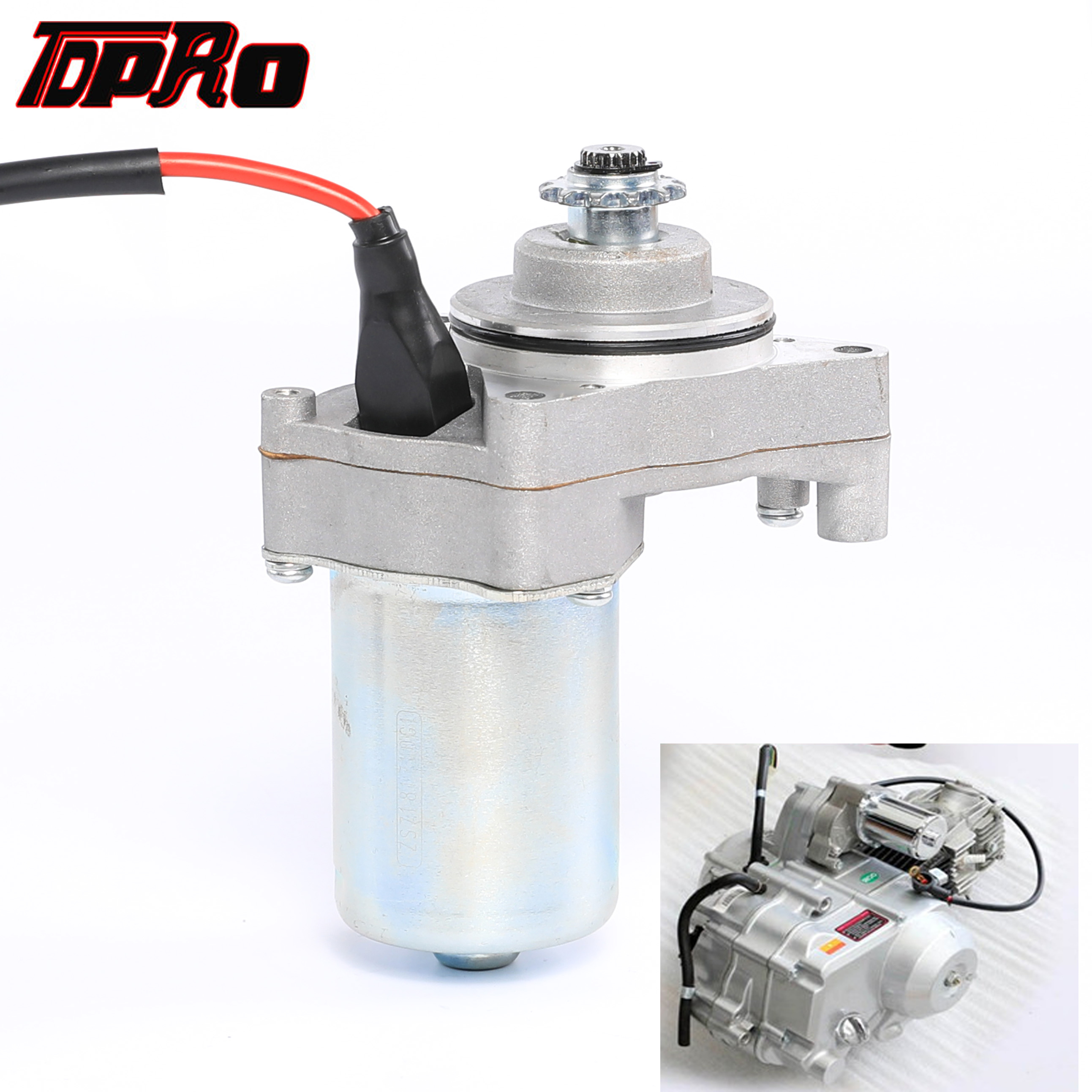 TDPRO Top Engine Position 3 Bolt Electric Start Motorcycle Starter <font><b>Motor</b></font> For Yamaha 50cc 70cc 90cc <font><b>110cc</b></font> 125cc <font><b>ATV</b></font> Quad Pit Bike image