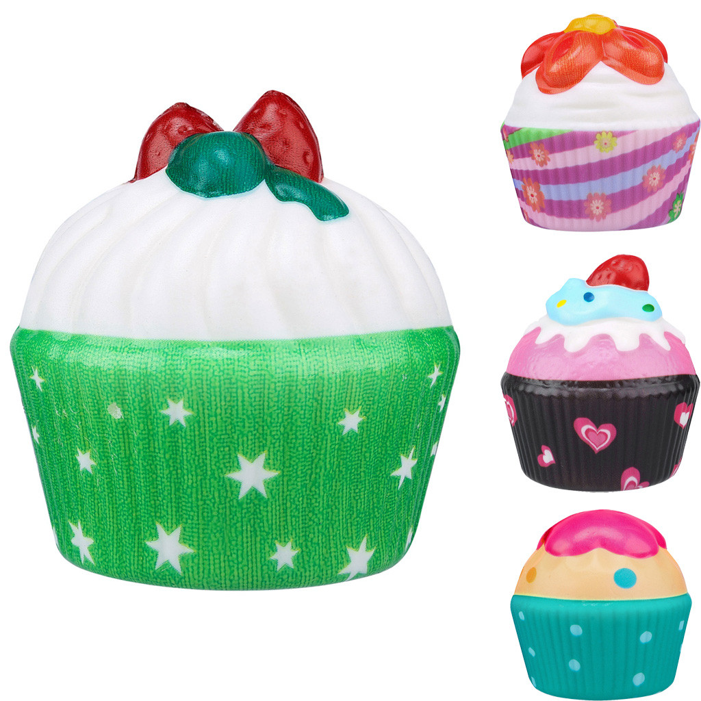 Kawaii Adorable Ice Cream Cake Slow Rising Cream Scented Stress Toys Children Fun Playing Game Toy Baby Boy Girl Toys