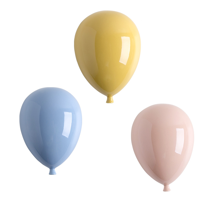 Beautiful Ceramic Balloon Wall Decoration Warm Living Room Children's Room Colorful Balloons Wall Hanging