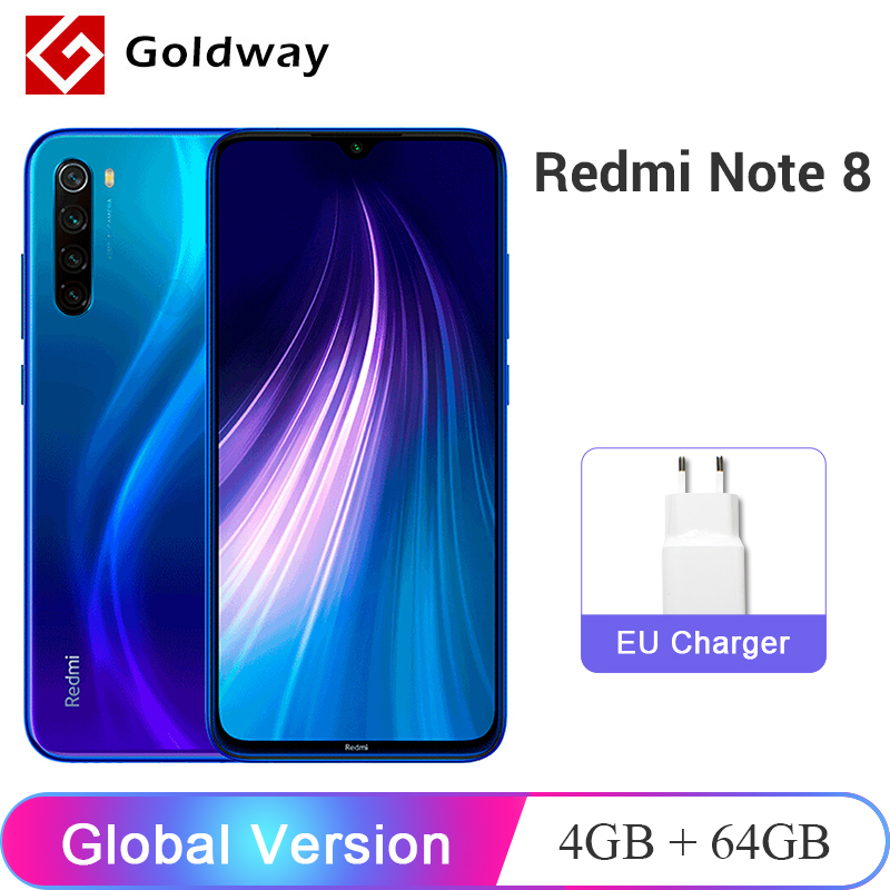 "Global Version Xiaomi Redmi Note 8 4GB 64GB Smartphone Snapdragon 665 Octa Core 48MP Quad Rear Camera 4000mAh 6.3"" FHD+ Screen(Hong Kong,China)"
