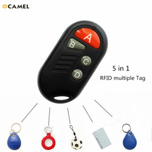 Access Control RFID Multiple T5577 EM 125khz Writable IC 13.56Mhz M1k S50 UID changeable Keychain Tag Token copy clone CUID(China)