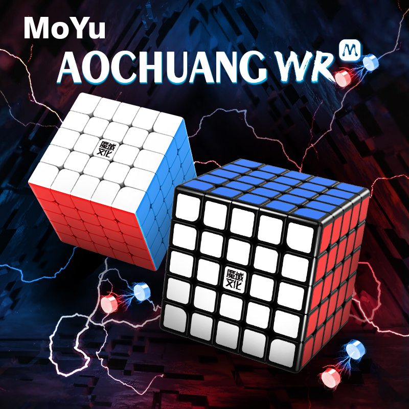 Moyu AoChuang WR M 5x5 61.5mm Stickerless Speed Cube AoChuang WRM 5x5 Magnetic Magic-cube Puzzle Cubo Magico Competition Cubes