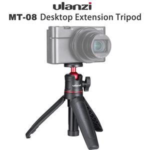 Image 2 - Ulanzi MT 08 להארכה Vlog חצובה SLR DSLR מצלמה Smartphone חצובה הר עבור Sony A6400 A6600 RX100 ZV1 Canon G7X ניקון