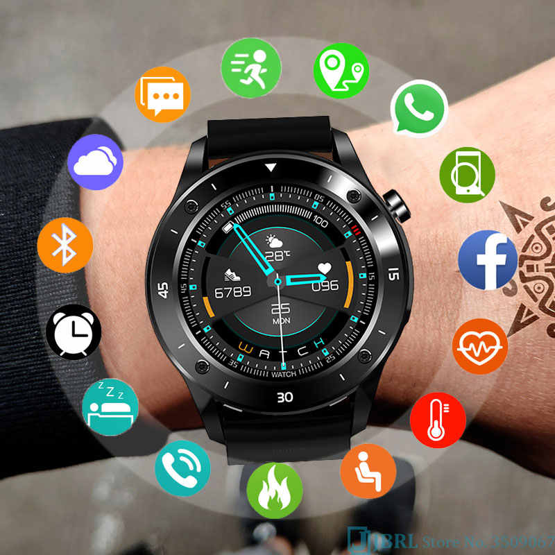 Nouveau Sport montre intelligente hommes Smartwatch électronique horloge intelligente pour Android IOS Fitness Tracker pleine touche Bluetooth montre intelligente