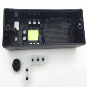 Image 2 - 5pc Black Front Cover Case Shell +Digital Keypad Button Rubber+Knob For Motorola GM300 Car Radio Accessories