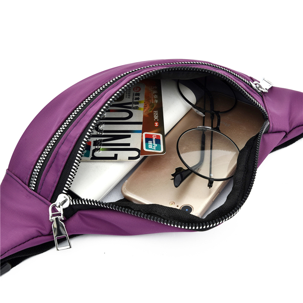 Women Ladies Female Waist Pack Zipper Adjustable Belt Solid Mini Shoulder Bag Crossbody Bag Sports Travel Cycling Casual  Bag 6