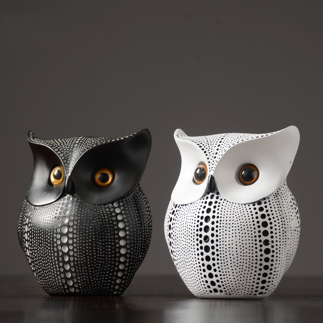 Nordic Home Decoration Accessories Modern Miniature Figurines Desk Decoration Owl Figurine Living Room Decoration Accessories 6