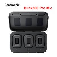 Saramonic-micrófono inalámbrico Blink 500, accesorio para entrevista de estudio, condensador, doble canal, para teléfono DSLR, Blink500 Pro, B1, B2