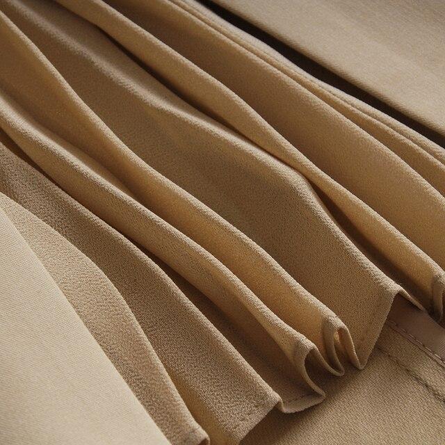 [EAM] High Waist Brown Bandage Asymmetrical Pleated Temperament Half-body Skirt Women Fashion Tide New Spring Autumn 2021 1S464 5
