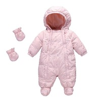 Infant Romper Children Winter Thicken Warm Climbing Clothes Duck Down Jumpsuit Newborn Baby Girls Boys Rompers Toddler Snowsuit