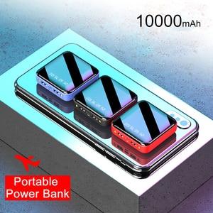 Image 5 - Pinzheng mini 10000mah banco de potência para xiaomi mi power bank carregador portátil bateria externa led display digital usb powerbank