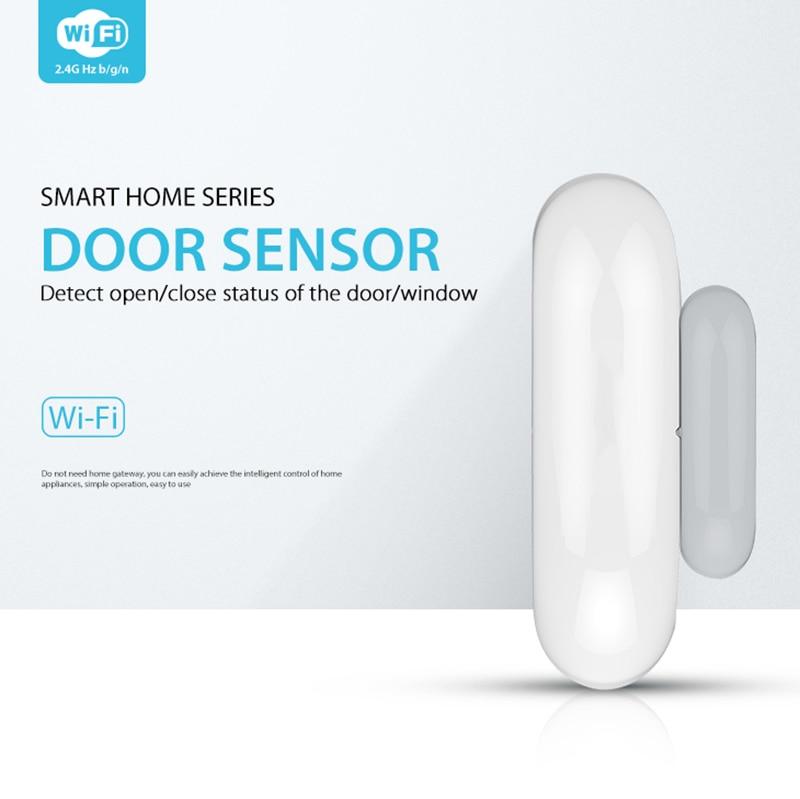 WiFi Door Sensor Wireless Garden Window Security Magnet Sensor Support Amazon Alexa Google Assistant IFTTT APP Tuya/Smart Life