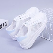Summer Air Mesh Shoes Woman Fashion White Sneakers Casual Ladies Shoes Fashion Women Daddy Shoes Newest Designer Calzado Mujer
