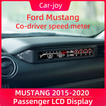 Passenger LCD Display for Mustang 2015-2020 dashboard accessories Digital Instrument Panel Speed Meter Screen FR 812 Style